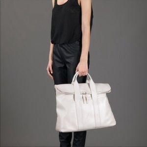 Rare Philip Lim 31 hr white satchel bag